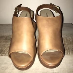 Tan Wedges - Size 11 - Never worn